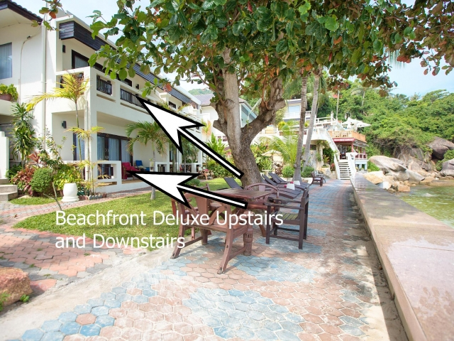 beachfront deluxe upstairs and downstairs